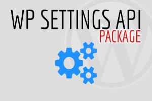 WP Settings API Package